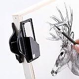 Clip de afilado de lápices, clip de pizarra de dibujo para dibujo, carbón vegetal, herramienta puntero para papelería escolar (color al azar)