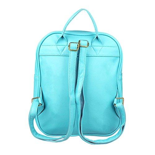 Honeymall borse a zainetto donna piccolo carino trasparente cuore forma Verde Blu