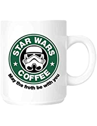 Taza para café / té de cerámica, parodia STAR WARS - STARBUCKS | May The Froth Be With You Star Wars by DURSHANI