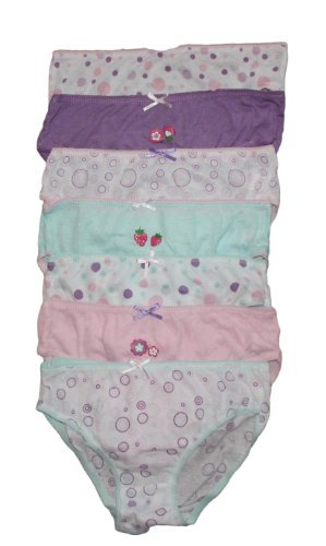 Childrens 7 Pack Girls Knickers Briefs (3-4 yrs, Purples)