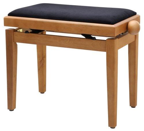 Classic Cantabile Pianobank (sehr stabil, Spindelscherenmechanik, Höhenverstellbar von 47-56cm, Sitzfläche 55 x 32cm, Velourbezug)