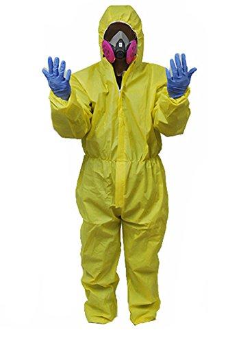 Bad Hank Kostüm Breaking - Gogam Breaking Bad Hazmat Lab WAlterr White Jumpsuit Kostüm Gelb