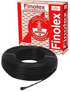 Finolex 1.5 Sq mm Wire, 90 m Coil (Black)