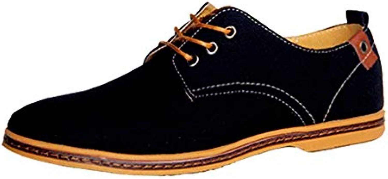 Oudan Scarpe di Tela - Scarpe Derby Casual da Uomo (Coloreee   Nero, Dimensione   UK 5.5 Label 39) | Bella apparenza  | Uomo/Donne Scarpa
