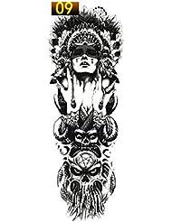 vige 1 UNIDS Etiqueta Engomada del Tatuaje del Brazo Completo Impermeable Tatuaje Temporal Manga Hombres Mujeres