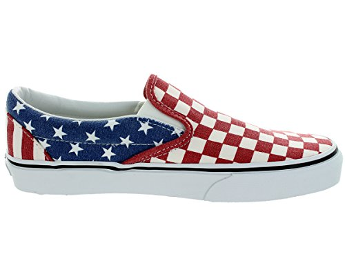 Vans Classic Classic Slip - On White Red Blue Womens TrainersVZMRFP1 Stars