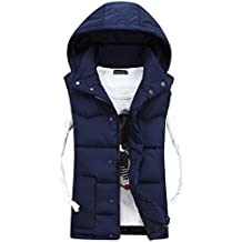 Fashion Down Chaleco, Morbuy Unisex Winter Down Chaleco Ultra Light Chaleco sin Mangas (M, Azul)