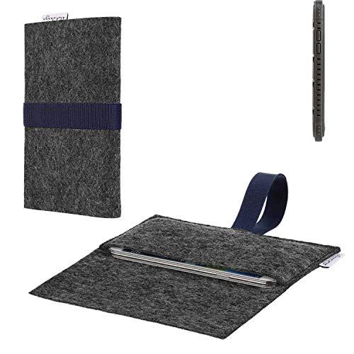 flat.design vegane Handy Hülle Aveiro für Cyrus CS 35 passgenaue Filz Tasche Case Sleeve Made in Germany