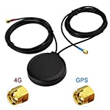 Eightwood 4G LTE Antenne GPS Antenne SMA Antenne Autotelematik SMA Adapter mit 3m RG174 Kabel für 4G LTE GPS Navigation Mobiles Handy-Booster-System