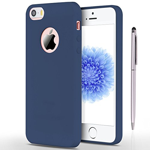 Coque iPhone SE , iPhone 5S Etui , CaseLover Etui Coque TPU Slim pour Apple iPhone 5 / 5S / SE Mode Flexible Souple Soft Case Couverture Housse Protection Anti rayures Mince Transparent Silicone Cover Bleu