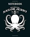 Notebook: the original sailor jerry 1911 1973 sailor jerry o1 - 50 sheets, 100 pages - 8 x 10 inches
