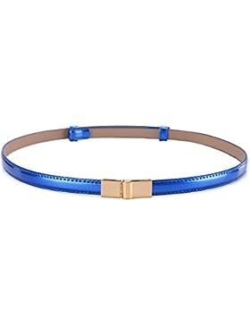 Correa de cuero de patente coreana de la manera/simple versátil decorativa correa/cinturones pequeños de las mujeres-D...