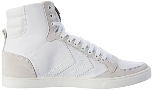 Hummel Sneaker Unisex Erwachsene – SLIMMER STADIL TONAL HIGH – Freizeitschuh Schwarz & Weiß - Schuh hoch Leinen / Wildleder – Klassik Turnschuh Comfort Sohle Weiß (White)