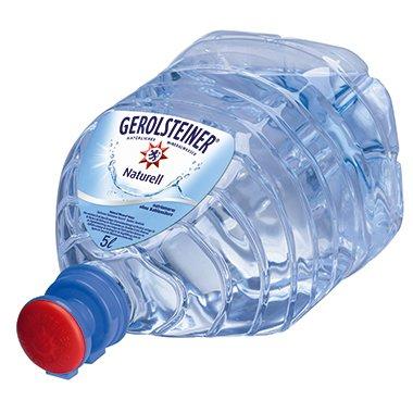 Gerolsteiner Naturell Gallone PET für Wasserspender 5l - Einweg pfandfrei