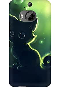 AMEZ designer printed 3d premium high quality back case cover for HTC One M9 Plus (Cute-art-of-lonely-black-kitty-iphone-full-hd-latest-s)