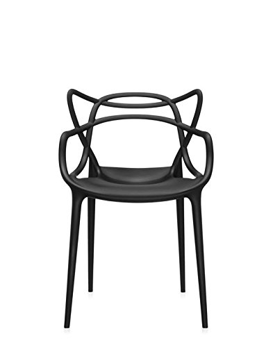 Kartell Masters Chair, Plastic, yellow 53.5x83x90 cm Dark black