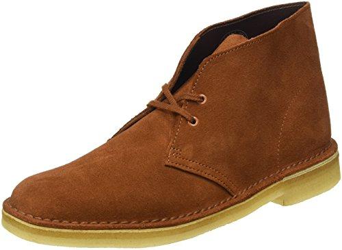 Clarks Originals Boot, Stivali Desert Boots Uomo, Marrone (Dark Tan Suede), 44 EU