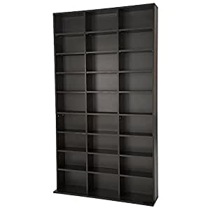 tectake cd dvd st nder regal f r bis zu 1080 cds diverse. Black Bedroom Furniture Sets. Home Design Ideas