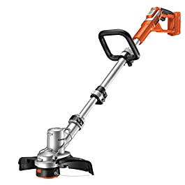 BLACK+DECKER GLC3630LB-XJ Coupe-bordures sans fil – Sans batterie – Déroulement du fil auto Reflex – Mode dresse-bordures – Poignée ajustable, 36V, Orange, 30 cm