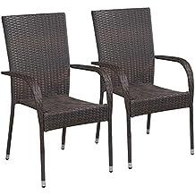 Amazon.fr : chaise resine tressee