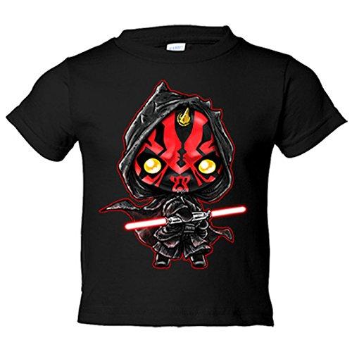 Camiseta niño Star Wars Darth Maul Kawaii - Negro, 12-14 años