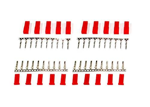 marfitec 10 Paar JST / BEC Kompatibel Stecker + Buchse Zum crimpen (20 Stück)