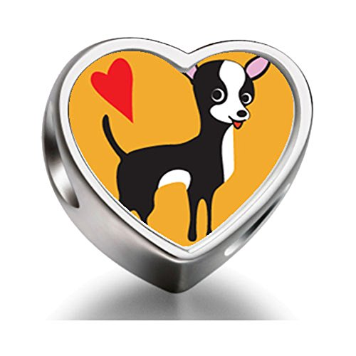 Rarelove-Sterling-Silver-Chihuahua-Dog-Heart-Photo-Charm-Beads