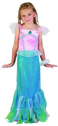 Generique - Meerjungfrau Kostüm für Mädchen blau-rosa 134/140 (10-12 ()