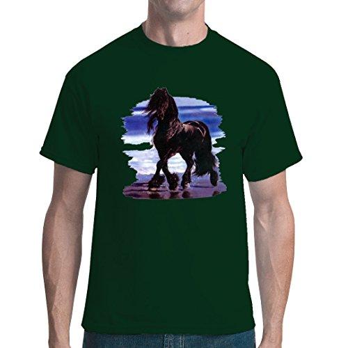 Fun unisex T-Shirt - Mustang - Strandläufer by Im-Shirt Bottle Green