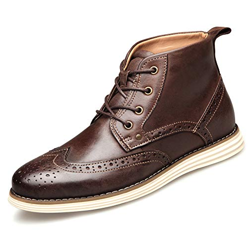 Shoe house Mens Ankle Boot Cap Toe Derby Modern Lace up Round Toe,C,US10=EU43 Herren Cap Toe Boot