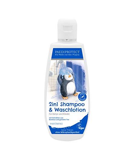 PAEDIPROTECT 2in1 Shampoo & Waschlotion für Babys & Kinder (1x200ml), ohne Mikroplastikpartikel, ohne Parfüm, vegan