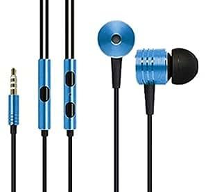 D'clair Premium OEM Mi Piston Design Earphones for Celkon Campus A355 - Dark Blue