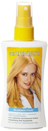 Garnier Aufhellung Summer Hair für blondes bis mittelbraunes Haar, 3er Pack (3 x 150 - Blond Haarfarbe Dunkel