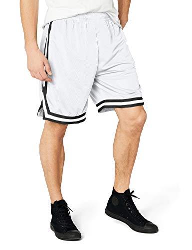Urban Classics TB243 Herren Shorts Stripes Mesh, Gr. 50 (Herstellergröße: M), Mehrfarbig (whtblkwht 244)