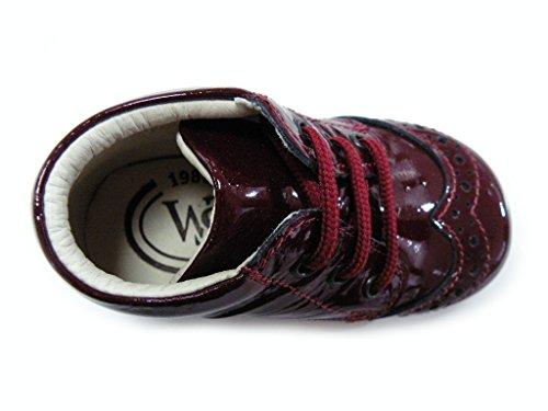Walk Safari Schuh ersten Schritte Schnürsenkel Lack rot weiblich rot Rot