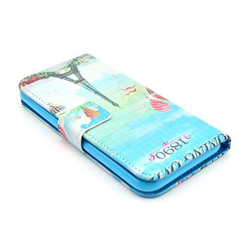 """MOONCASE iPhone 6 Plus Case Motif Conception Coque en Cuir Portefeuille Housse de Protection Étui à rabat Case pour iPhone 6 Plus (5.5"""") P60"""