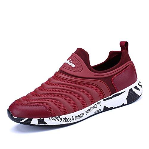 Uomo traspirante Scarpe casual Antiscivolo Scarpe di tela formatori Scarpe da ginnastica Scarpe da corsa All'aperto euro DIMENSIONE 39-44 Red