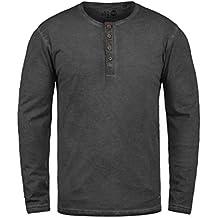 4fdbfd1cd4 Solid Timur Herren Longsleeve Langarmshirt Shirt mit Grandad-Ausschnitt aus  100% Baumwolle !