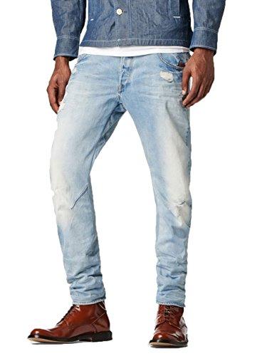 G-Star Arc 3D Slim - Wisk denim - Jeans - Slim - Homme Bleu (lt aged destroy 1243)