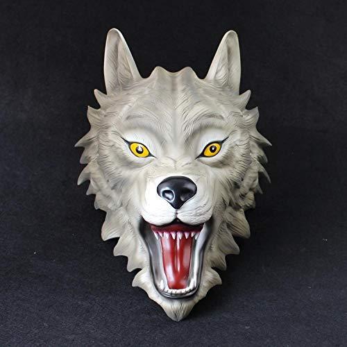 �Maske Requisiten Schutzmaske Halloween Horror Maske @ Wild Wolf ()