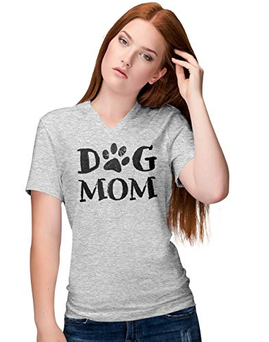 Crossing Light T-shirt (Cute Dog Mom Paw Slogan Damen V-Neck T-Shirt)