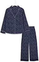 Amazon-Marke: Iris & Lilly Damen Pyjama-Set aus Baumwolle