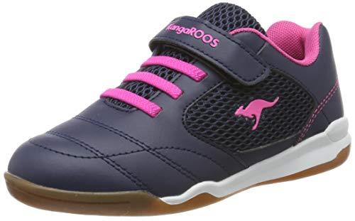 KangaROOS Unisex-Kinder Incourt EV Sneaker, Blau (Dk Navy/Daisy Pink 4204), 34 EU