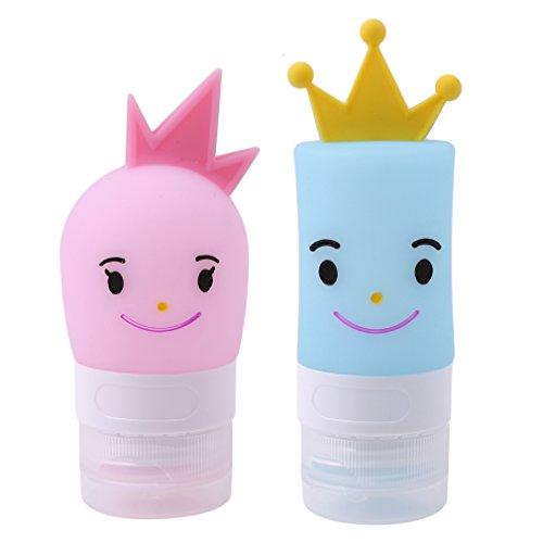 Jixing Nette Prinzen-Prinzessin-Karikatur-Form-Silikon-leere Pressungs-Reise-Flasche für Shampoo/Lotion/Aftershave (Lotion Net)