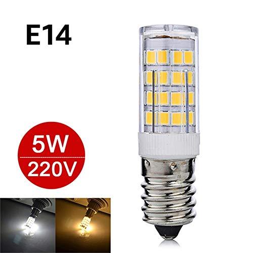 Mini E14 LED Lampe 5 Watt 7 Watt 220 V Bombillas LED Licht Maisbirne SMD2835 Kristallleuchter G9 Birne Licht Ersetzen Halogen 6 stücke, E14 5 Watt, Warmweiß (Werfen Pokemon)