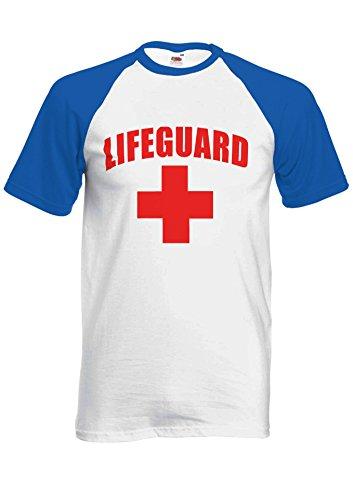 Life Guard Sexy Beach Funny Novelty Royal Blue/White Men Women Damen Herren Unisex Baseball T Shirt Verschiedene Farben-XXL