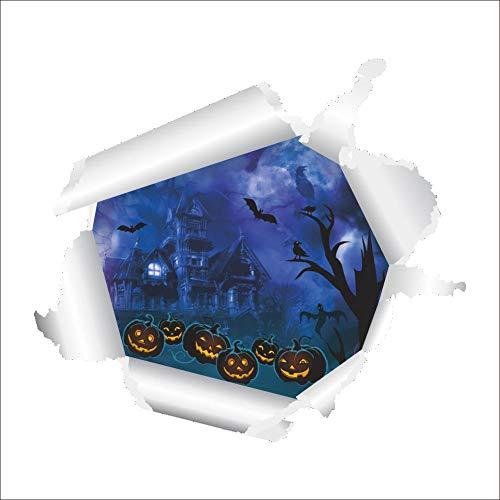 t-Schloss-Kürbis-Kopf-Fernseh-Hintergrund-Tapete Halloweens 3D Stereo ()