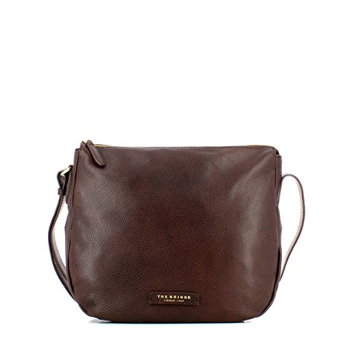 The Bridge Plume Soft Donna Borsa a tracolla pelle 36 cm Marrone