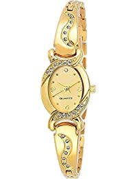 Cloudwood Analog Bangle Gold Dial Luxury Fashion Bracelet Watch for Women & Girls -W158