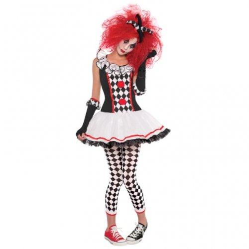 Teens Halloween Harlequin Honig Jester Mädchen Fancy Dress Party - Halloween Teen